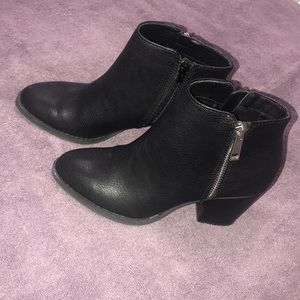 Express black booties